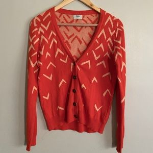 Madewell Wallace Orange Cardigan